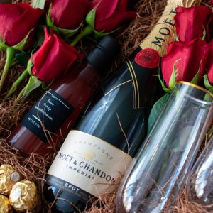 Chef Michele Valentines Champagne and Roses
